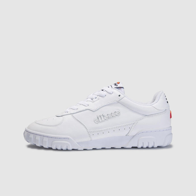 Ellesse Men Tanker Lo Leather Shoes in White/Wht/Dkblu