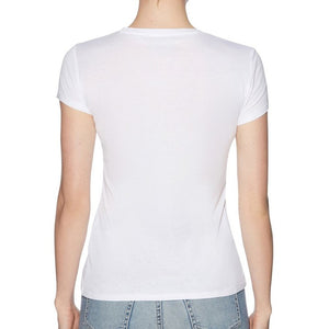 Guess Women Basic Logo Tee in True White