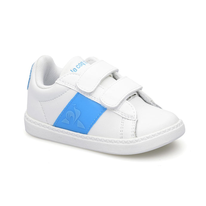 Le Coq Sportif Kids Courtclassic INF Neon In Optical White / Atomic Blue