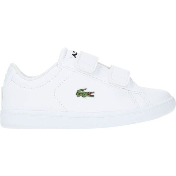 Lacoste Kids Carnaby Evo BL 4 SUI SYN Shoes  in White/ White