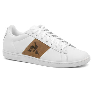Le Coq Sportif Men Courtclassic Shoes in Optical White/Brown