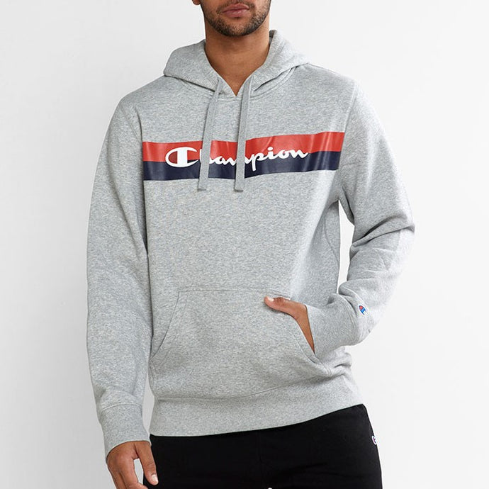 Champion Men SPS Graphic Print Hoodie in Grey