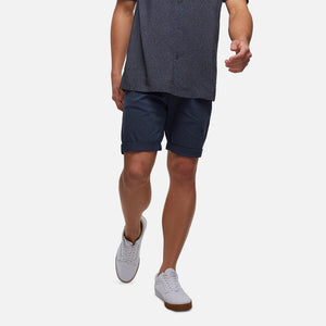 Industrie Men The Washed Rinse Shorts in Mid Indigo