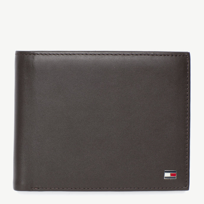 Tommy Hilfiger Men Eton CC and Coin Wallet in Brown
