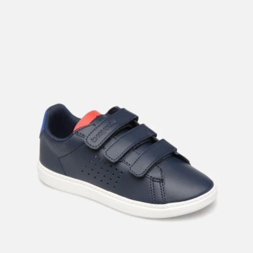 Le Coq Sportif Kids Courtset PS Sport Shoes in Dress Blue/ Cobalt/ Pure Red