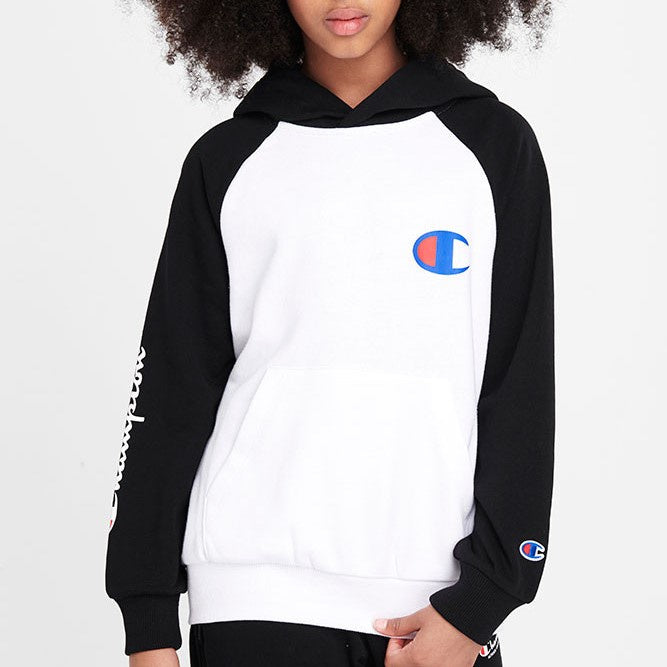 Champion Kids FRE TRY K CBLK Hoodie in Black/White