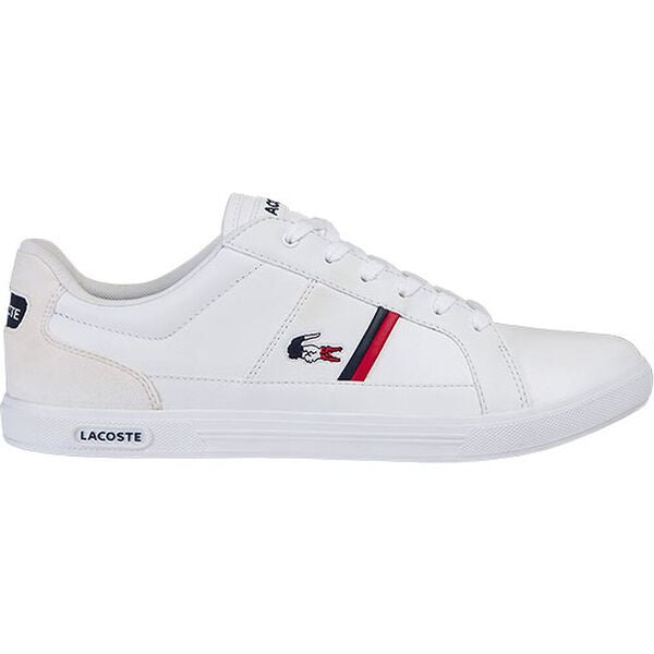 Lacoste Men Europa  TRI1 SMA Shoes in White/Nvy/Red