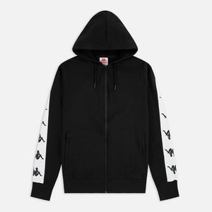 Kappa Men 222 Banda 10 Ermano Zip Thru Hoody in Black