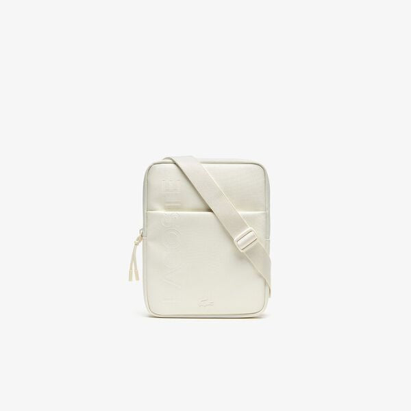 Lacoste Medium Crossover Bag in Marshmallow