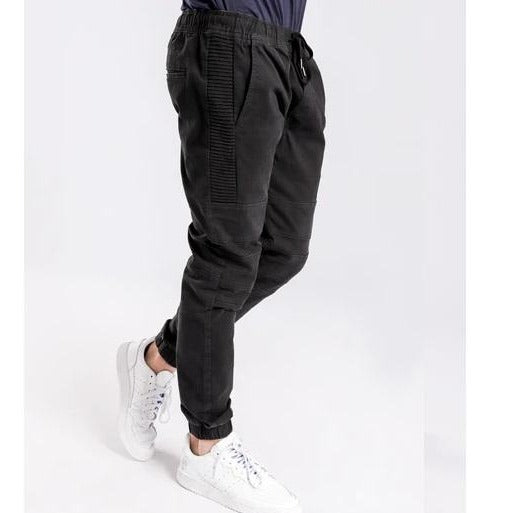 Henleys Men Blake Moto Jogger in Black