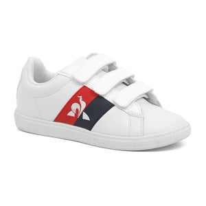 Le Coq Sportif Kids Courtclassic PS Flag Shoes in Optical White
