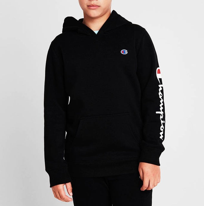 Champion Kids Sport Graphic Hoodie in Black