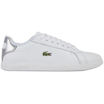 Lacoste Women Graduate 120 1 SFA Shoes in White/Silver