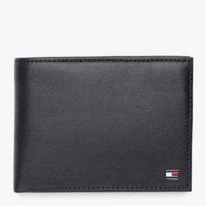 Tommy Hilfiger Men Eton CC Flap & Coin Pocket Wallet in Black