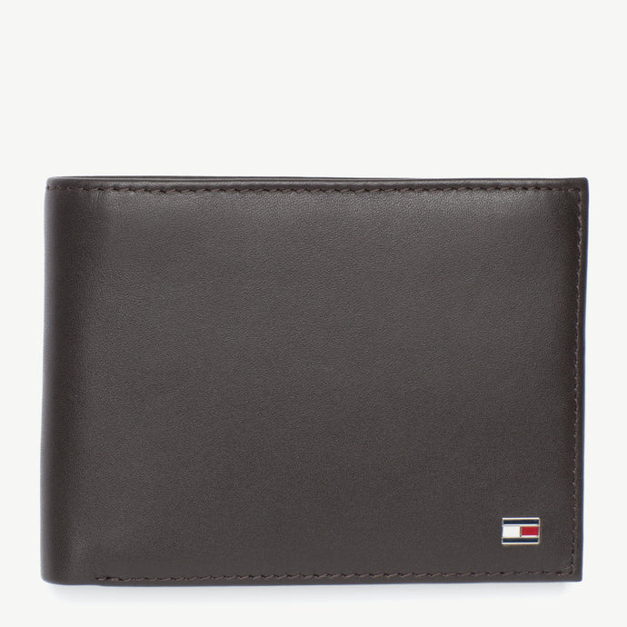 Tommy Hilfiger Men Eton CC Flap & Coin Pocket Wallet in Brown