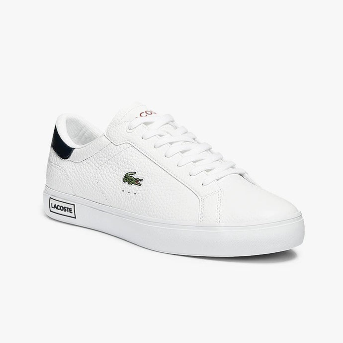 Lacoste Men Powercourt 0721 2 SMA Shoes in White/Navy/Red