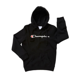 Champion Kids Script Hoodie in Black