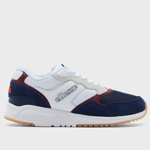 Ellesse Men NYC84 SUEDE AM Shoes in White/Blu/Bur