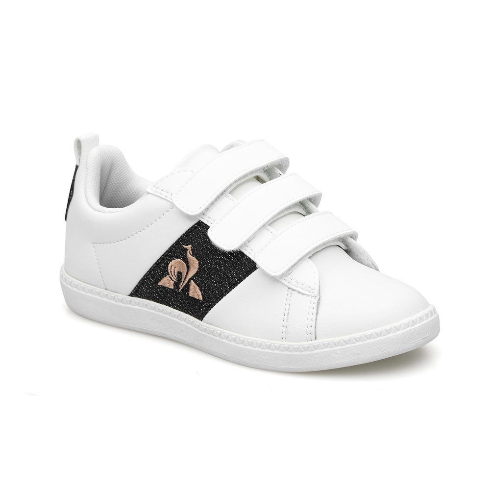 Le Coq Sportif Courtclassic PS Girl Shoes in Optical White / Black