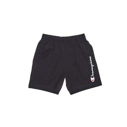 Champion Kids Script Jersey Shorts in Black