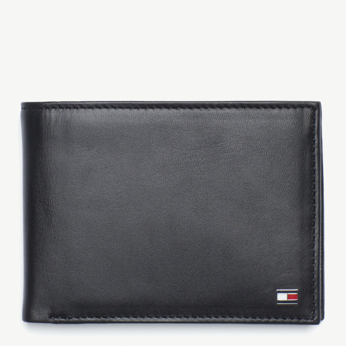 Tommy Hilfiger Men Eton CC and Coin Wallet in Black