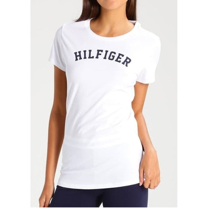 Tommy Hilfiger Women SS Print Tee in White