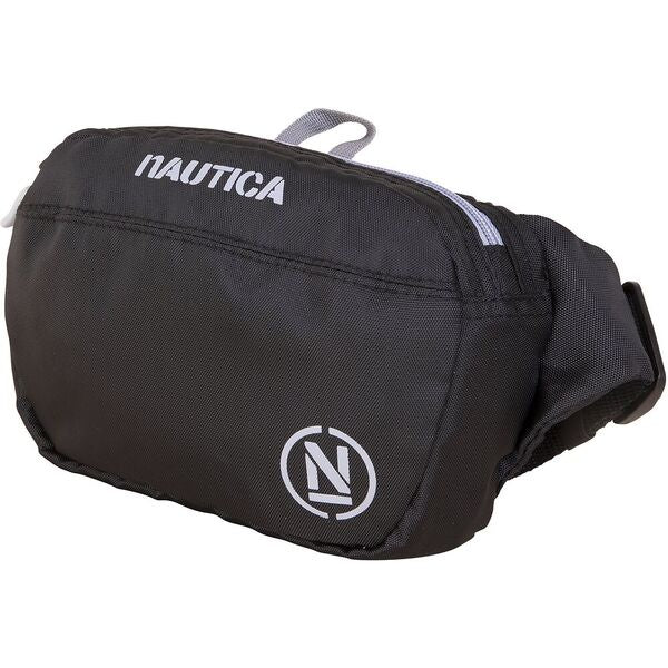 Nautica Men H20 Sport Belt Bag in Black/ Grey