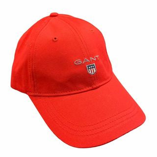 Gant Men Twill Cap in Bright Red