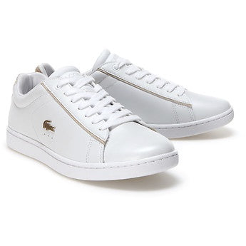 Lacoste Women Carnaby EVO 118 6 SPW Shoes in White/Gold
