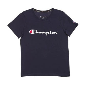 Champion Kids Script SS Tee in Navy