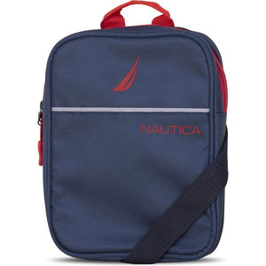 Nautica Men Paneled Bright Crossbody Bag in Navy/ Red