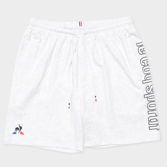 Le Coq Sportif Men Monaco Fleece Shorts in Snow Marle