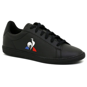 Le Coq Sportif Kids Courtset GS Shoes in Triple Black