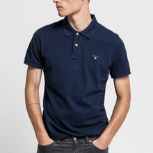 Gant Men Original Pique SS Rugger Polo in Evening Blue
