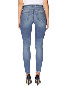 Guess Women Mid Rise Skinny Jeans in Light Medium Wash