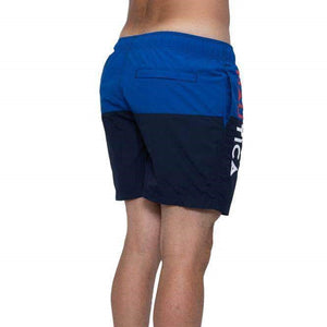 Nautica Men Logo Pieced Ful Swim Shorts in Navy
