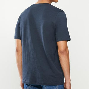 Kappa Men Logo Zobi Tee in Blue Navy
