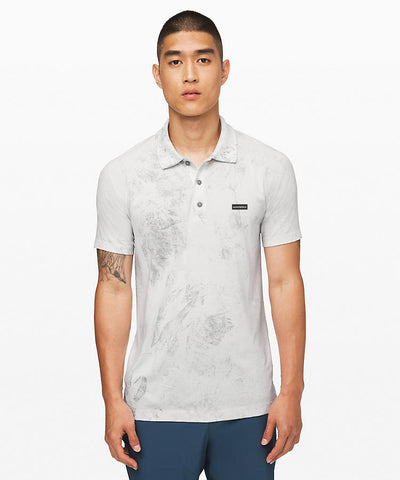 Metal Vent Tech Polo Chalk Wash