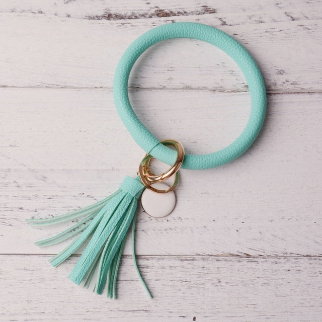 Emma Key Chain Bangle w/ Tassel