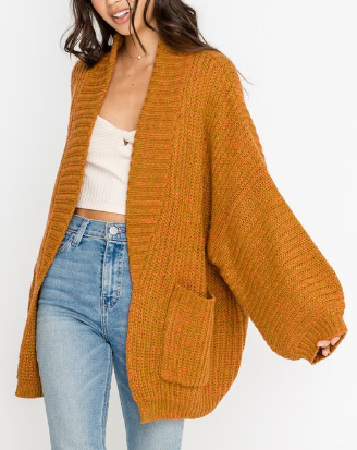 Slouched Knit Cardigan