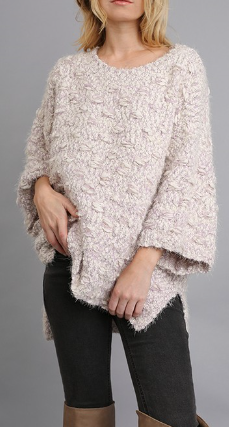 Hi-Lo Oversized Plush Sweater