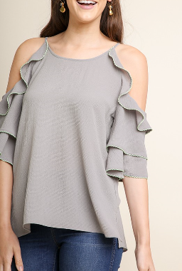 Layered Cold-Shoulder Top