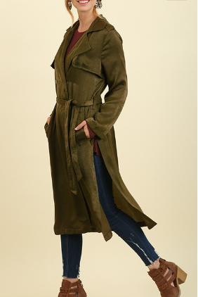 Satin Trench Jacket
