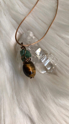 Green Aventurine & Tigers Eye Combination