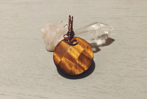 Tigers Eye Crystal Pendant