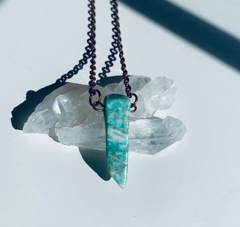 Amazonite Crystal Pendant