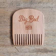 Big Red No.5 Beard Comb