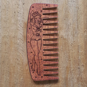 Big Red No.9 Beard Comb - Sailor Pin Up Girl