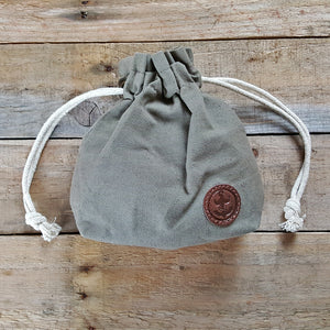 The Brighton Beard Company - Waxed Canvas Duffle Pouch Wash Bag