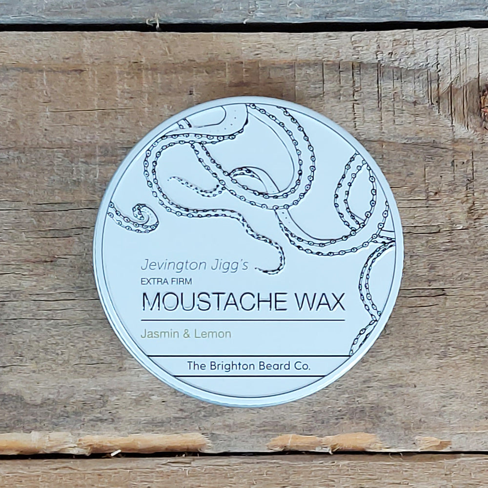The Brighton Beard Company - Jevington Jigg's Extra Firm Moustache Wax, Jasmin & Lemon
